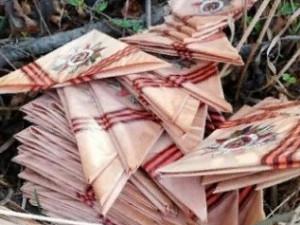 «Фронтовые письма» выбросили после празднования Дня Победы