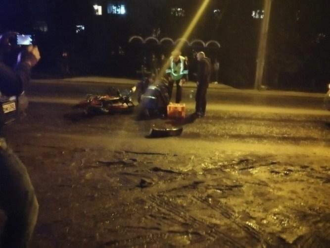 В Брянске водитель иномарки разбил голову 19-летнему мотоциклисту