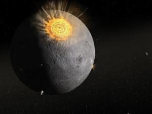 В Луну врезался космический объект