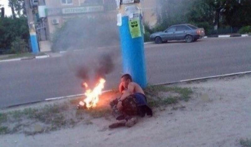 Житель Брянска устроил романтику на обочине дороги
