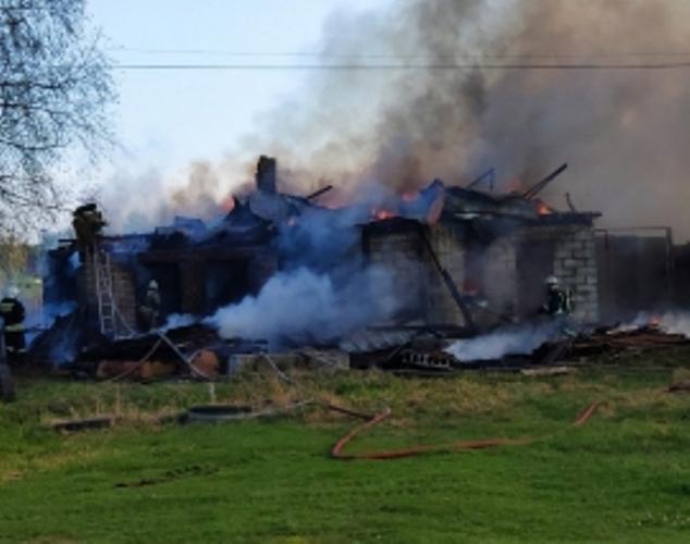 В Володарском районе Брянска произошел крупный пожар