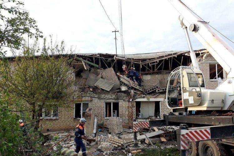 Появилось видео с места взрыва газа в жилом доме в Ростовской области