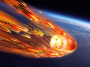 Гибель спутника в атмосфере Земли показали на видео