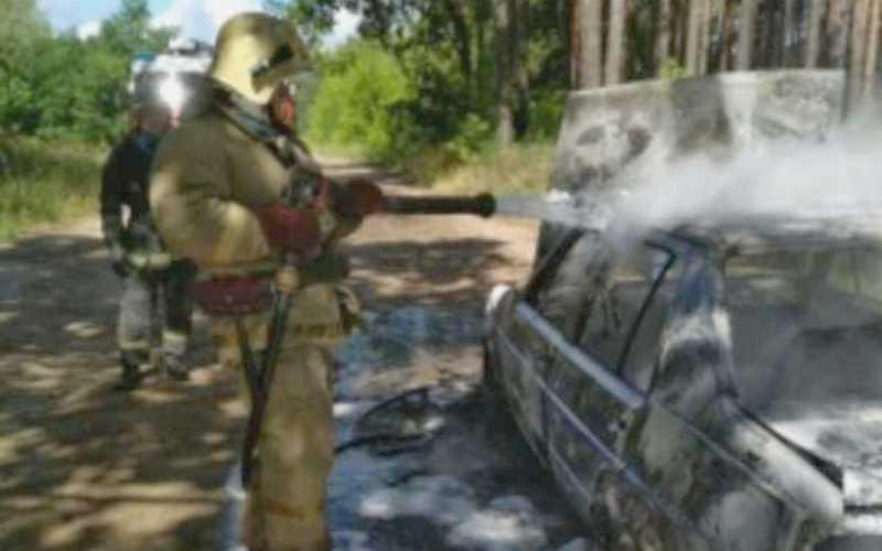 В Бежицком районе Брянска сгорел Volkswagen