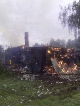 В МЧС сообщили о пострадавшем при пожаре в Красногорском районе