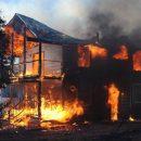 В Брянском районе сгорел жилой дом