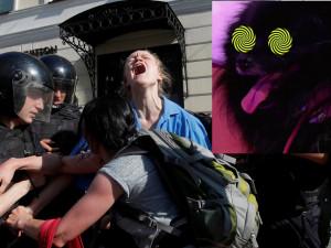 Когда в Москве избивали людей, на «России-1» показывали собаку-гипнотизера (видео)