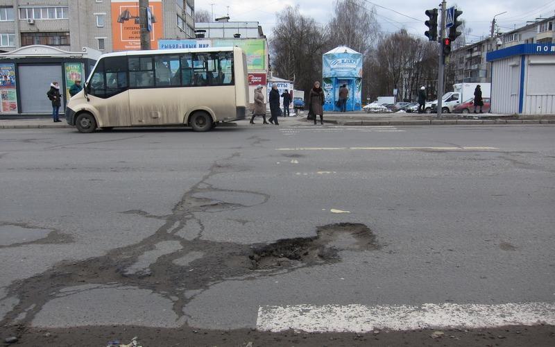 Брянск оказался в пятерке российских городов с самыми плохими дорогами