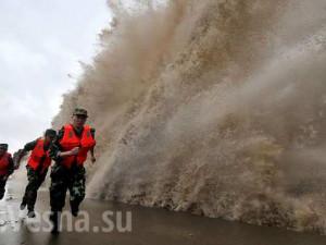 Более 1 млн человек из-за тайфуна эвакуировали в Китае