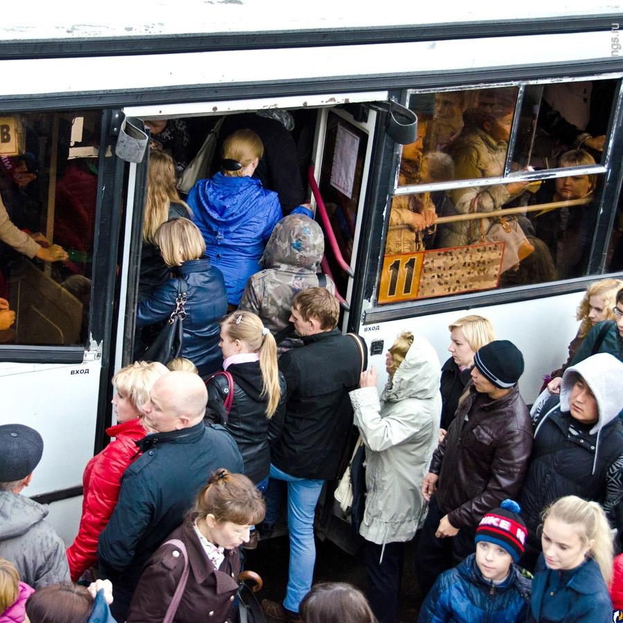 В Брянске на День города поранился ребенок во время давки в маршрутке