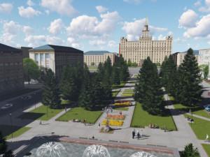 Аукцион по ремонту сквера у ЮУрГУ в Челябинске сорвался