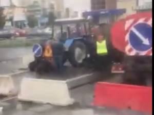 Дорожный затор в Челябинске близ вокзала возник из-за ремонта дорог