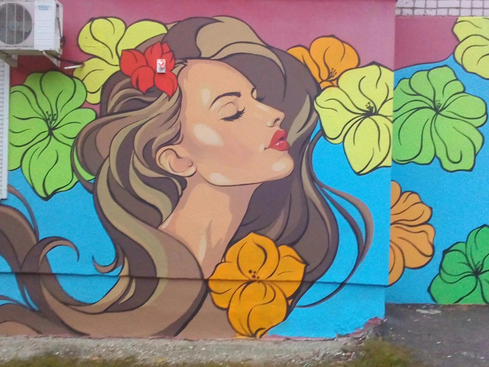 Брянцы восхищаются новым граффити возле школы №51