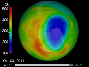 Размер озоновой дыры над Землей уменьшился до 37-летнего минимума