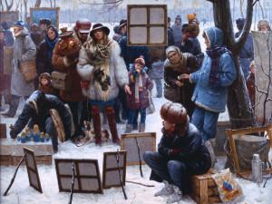 Картина об арбатских художниках «обросла» уже разными историями