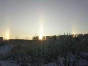 Три солнца над Челябинском сумел снять житель города