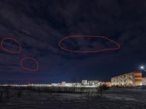 Таинственные зеленые огни в небе над Ямалом снял фотограф
