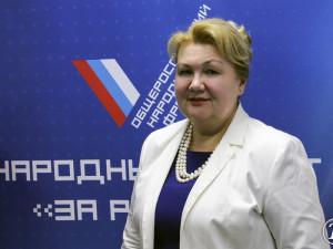 Она голосовала за повышение пенсионного возраста. Депутат Наталья Санина