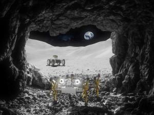 Роботы на Луне будут работать в тандеме (видео)
