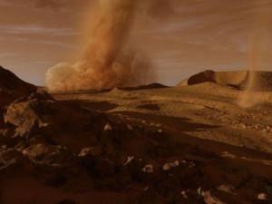 Пыльные дьяволы меняют ландшафт Марса
