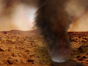 Пыльного дьявола на Марсе снял аппарат НАСА