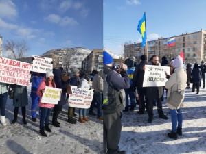 40 врачей и водителей скорой помощи вышли на акцию протеста