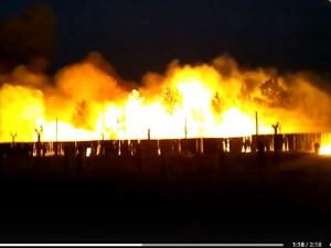Пожар на заводе «Сигнал» в Челябинске: сперва загорелась трава