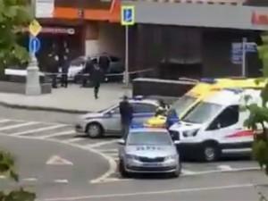 В отделении банка в центре Москвы захватили заложников?