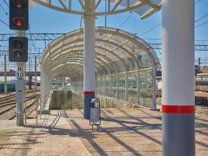 В Челябинске на вокзале построили новую платформу и пешеходный тоннель
