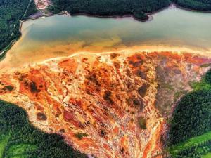 Кислотные реки под Нижним Тагилом выжигают окрестный лес и убивают все живое