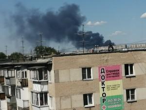 64 человека тушили большой пожар в Челябинске