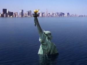 Надвигающееся глобальное наводнение нанесли на карту планеты