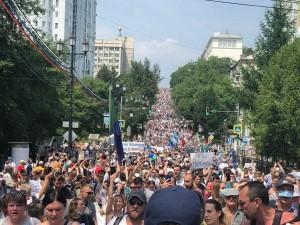 В протестах в Хабаровске участвуют даже семьи местных силовиков