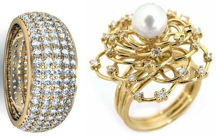 Купить кольца с бриллиантами