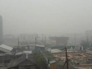 Якутск оказался в дыму из-за лесных пожаров