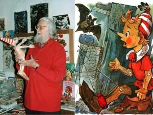 Лицо Буратино рисовал художник с маленькой дочери.  А кто «позировал» для образа Чебурашки?