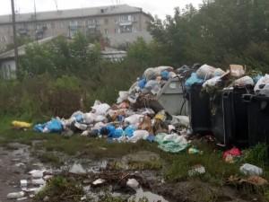 В помойку превратилась часть улицы Бажова в Челябинске