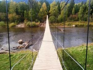 Подвесной мост через реку Юрюзань построили в нацпарке «Зигальга»
