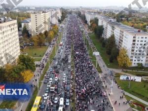 Снова более 100 тысяч человек протестуют в Минске