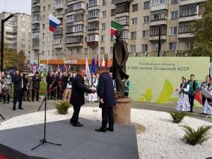 В Челябинске открыли памятник знаменитому татарскому поэту