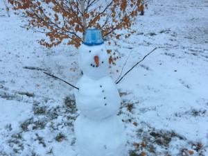 Первые снеговики появились на Южном Урале