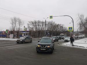 В Челябинске на пешеходном переходе сбили пенсионерку