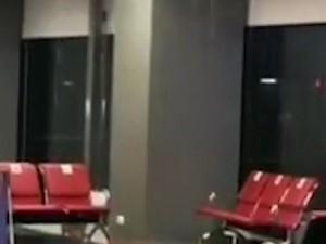 Затопило зал ожидания в аэропорту Челябинска