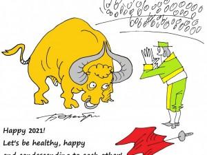 В Новом году карикатурист из Израиля пожелал челябинцам снисходительности к слабостям друг друга