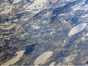 Новогодний Челябинск сняли с борта МКС