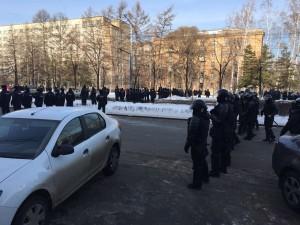 Каким законом запрещено участие в несогласованных акциях протеста, полиция Челябинска не ответила