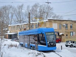 Новый низкопольный трамвай испытывают в Челябинске