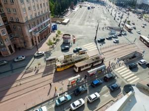 Надземный пешеходный переход в центре Челябинска сохранят и после окончания ремонта подземных переходов