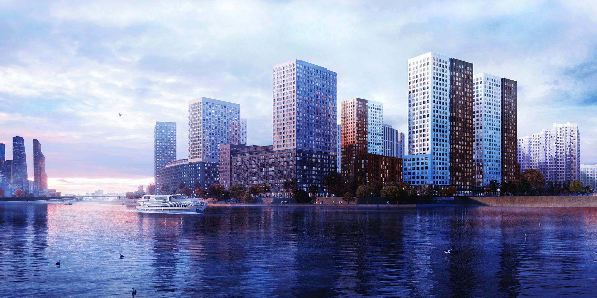Украшение набережной Москвы-реки – новый жилой квартал
