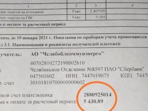 Счет на 5 тысяч рублей за отопление квартиры на 65 квадратных метров выставили в Копейске